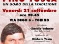 21 settembre 2018 Torino - Pino Tosca uomo della tradizione