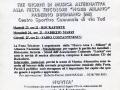 giugno 1998 - Volantino - Alternativa in Campo n. 3