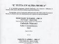 22 febbraio 2002 Volantino - E' tutta un'altra musica