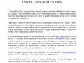 maggio 2014 - Volantino - Inizia una nuova era