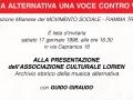 17 gennaio 1998 - Milano - Presentazione della Lorien
